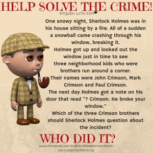 HELP SOLVE THE CRIME