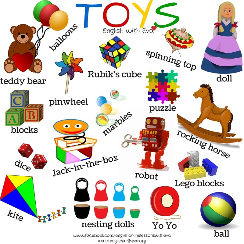 Toy Vocabulary Game : Illustrations a practical guide to technology in elt